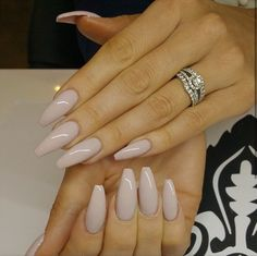 #Prettynails #nude #stilettonails neutral nails