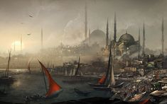 This HD wallpaper is about Assassins Creed: Revelations Hagia Sophia Istanbul drawing Assassins Creed Constantinople, Original wallpaper dimensions is file size is Assasins Creed Revelations, Arte Assassins Creed, Hagia Sophia Istanbul, Assassin's Creed Wallpaper, 1080p Wallpaper, Desktop Wallpapers, Mobile Wallpaper, Concept Art Landscape, Castle Painting