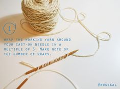 KW Summer Sweater KAL / #Long-Tail Cast On: Waste Not, Want Not — Kelbourne Woolens | #knitting #tutorial