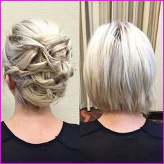 60 Creative Short Hair Updos, Have you ever struggled to learn some updos for short hair? With so many gorgeous updo ideas available online, the strong majority are for long hair. Cute Medium Length Hairstyles, Short Wavy Haircuts, Medium Hair Styles, Curly Hair Styles, Natural Hair Styles, Short Thin Hair, Short Hair Updo, Short Hair Cuts, Pixie Cuts