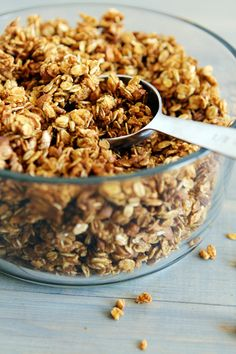 Pumpkin granola! Never made granola before but adding pumpkin make me way more inclined to do so!