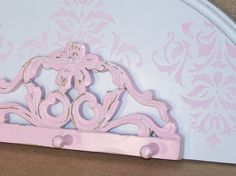 Pink Coat Rack  Pink jewelry display  pink by ReVampedChicDesigns