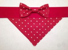 Dog Bandana  Valentine's Day Heart Print with by SpottedDogShop, $9.95