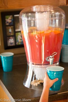 Gender reveal party food and baby shower drinks ideas pineapple coral pink punch teach2blue not as much lemonade powder and more ginger ale also junglespirit Gallery