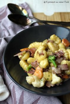 Experimente aus meiner Küche: Schnelle Gnocchi-Gemüse-Pfanne