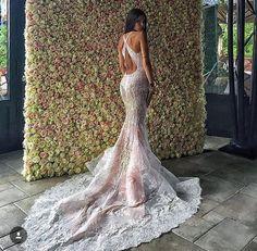 Gorgeous blush pink wedding gown