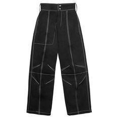 591 個讚,2 則留言 - Instagram 上的 Vejas(@vejask):「 The A17 black cotton drill trousers feature subtly darted knees, a wide leg silhouette, and… 」