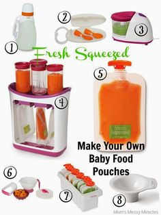 Our Own Baby Food Pouches with Infantino Make Your Own Baby Food Pouches!Make Your Own Baby Food Pouches! Toddler Meals, Kids Meals, Toddler Food, Homemade Baby Foods, Baby Led Weaning, Baby Makes, Baby Needs, Baby Food Recipes, Food Baby