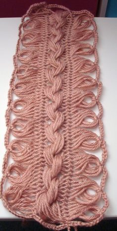 Adrialys Handmade Creations: Works in Progress: Hairpin lace Shawl