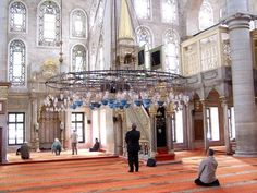 whysunni:   The mihrab of the Eyüp Sultan Mosque in Istanbul, Turkey. The mosque was built in 1458 by the site of the grave of Abu Ayyub al-Ansari, a companion of the Prophet (S) who was killed in the 674 Siege of Constantinople.