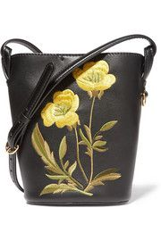 Stella McCartneyEmbroidered faux leather shoulder bag