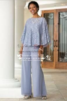 mother of the bride pant suits blue chiffon outfit with lace for summer wedding nmo 263 - Summer Wedding Outfit Pants Mother Of Bride Outfits, Mother Of Groom Dresses, Mother Of The Bride Suits, Wedding Pantsuit, Wedding Suits, Summer Wedding Outfits, Summer Outfits, Simple Gowns, Mob Dresses