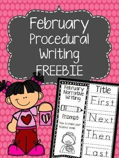 "February Procedural Writing foldables are a fun way to practice ""how to"" writing. February scenarios revolve around love and friendship and include fun prompts such as ""how to make a valentine's day"" and ""how to make your teacher smile"" among http://others.In this packet, there are 3 writing prompts with traceable temporal word starters."