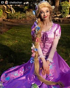 buyers show from @chellochan ( product code P144 ) Happy anniversary to my favourite princess ♡ a princess who's taught me to have a pure heart and be kind as well as standing up for myself when needed. #rapunzel #rapunzelcosplay #disneycosplay #disneyland #angelsecret #disneyprincess