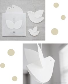Floaty japanese paper birds