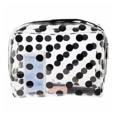 Large Black Dots Cosmetic Travel Bag (€31) ❤ liked on Polyvore featuring beauty products, beauty accessories, bags & cases, travel toiletry case, make up purse, toiletry bag, travel bag and make up bag