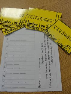 Number Line Game. Also activity for making number lines on sentence strips. My students get so confused by number lines w/ missing numbers and fractions! Math Resources, Math Activities, Math Games, Math Enrichment, Educational Activities, Math Stations, Math Centers, Math School, School Daze