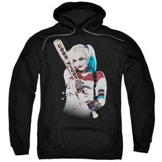 Suicide Squad Bat at You Adult Hoodie - Black - Officially Licensed - High Quality - 75% Cotton / 25% Polyester Blend - Premium Ringspun Cotton - Double-Needle Cuffs - Pouch Pocket