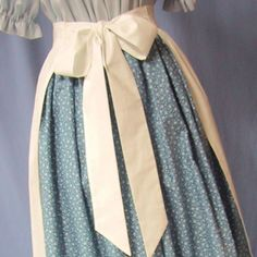 Pioneer Apron - Colonial Historical Costume - Frontier - Civil War Reenactment - Handmade Cotton Muslin