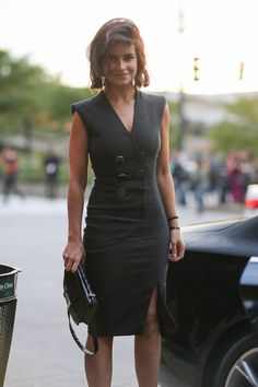 Miroslava Duma - New York Street Style Fashion Week Spring 2014