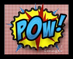"Pop Art Print - ""POW"" in the comic strip superhero style like old Batman show 11x14. $21.00, via Etsy."