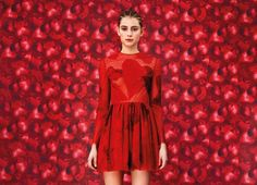 Valentino red heart dress