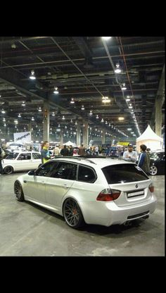 BMW wagon.