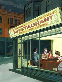 NOUVEAU PALAIS, Mile End, Montréal | L'un des trésors gastronomique de Montréal: le diner réinventé, dans son look d'antan, renard empaillé compris. Délicieux sur toute la ligne. And best burger in Montreal, according to Leo.