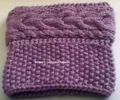 (6) Name: 'Knitting : Horseshoe cable boot cuffs