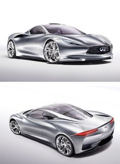 Infiniti Emerge-E: The floodgates are about to open at the Geneva Motor Show next week. But who was really expecting this electric bombshell from Infiniti? The fact is, Nissan's luxury offshoot had to do something pretty bold to make anyone take notice. The Emerge-E is it. This sleek mid-engine supercar looks like something squeezed out the birth canal of a Lamborghini after a late-night hook up with an Audi R8.