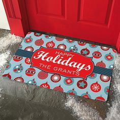 Holiday Ornament Doormat