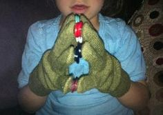 Button Gloves - This activity encourages finger isolation,   thumb opposition, proprioceptive input and fun!