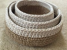 A personal favorite from my Etsy shop https://www.etsy.com/listing/400699567/storage-baskets-crochet-baskets-organize