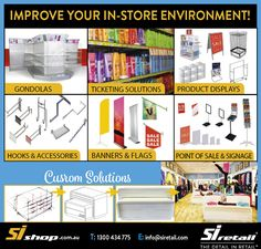 Our large variety of shop fitting items are just one phone call away! Sale Signage, Shop Fittings, Point Of Sale, 45 Years, Store Displays, Family Business, Improve Yourself, Banner, Retail