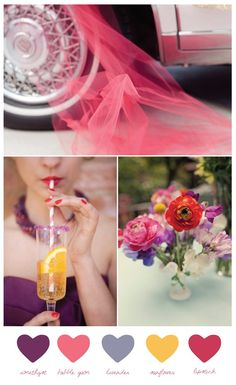 Love    summer wedding palettes | ... -red-wedding-colors - really like this palette for a summer wedding