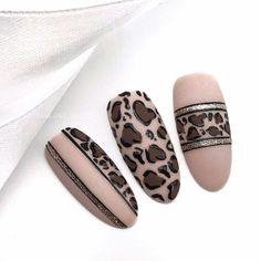 Glam Nails, Fancy Nails, Matte Nails, Acrylic Nails, Beautiful Nail Art, Gorgeous Nails, Pretty Nails, Nailart, Animal Nail Art