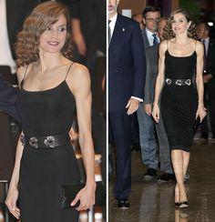 Premios Princesa de Asturias 2016: La reina Letizia y su 'look' en 'nude' y negro, de Varela