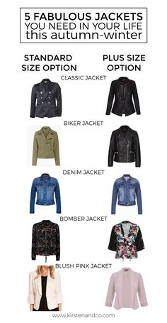 Want to add a jacket to your wardrobe this autumn-winter but don't know where to start? This guide to 5 fabulous jackets you need in your life will help |Bohemian Traders black blazer | City Chic Captain Jacket| French Connection Woodlands Biker Jacket | Crossroads biker jacket | katies denim jacket | decjuba kenzie printed bomber jacket | crossroads secret garden bomber jacket | jacqui e georgi lyocell jacekt | City Chic coloured blazer jacket | kirsten and co