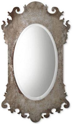 Oval Mirror, Dream Design, Easter Shopping, Decor, Wood Corner Shelves, Diy Makeover, Chippendale Design, Mirror, Large Vintage Mirror