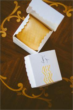 give ties as groomsmen gifts #groomsmen #groomsmengift #weddingchicks http://www.weddingchicks.com/2014/03/12/santa-barbara-yellow-and-gray-wedding/