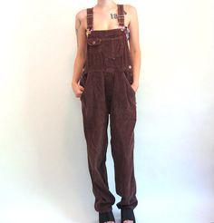 90s Grunge DARIA Corduroy Overalls Women's size by ACTUALTEEN