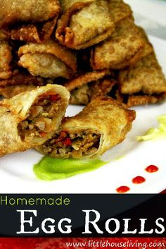 Homemade Egg Rolls - Little House Living