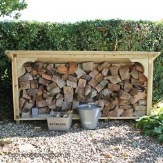 Short Melbury Log Store with kindling box