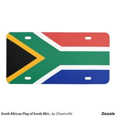 South African Flag of South Africa License Plate - Car Floor Mats License Plates, Air Fresheners, and other Automobile Accessories