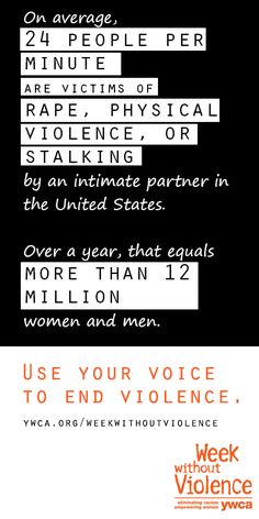 On average, 24 people per minute are victims of rape, physical violence, or stalking by an intimate partner in the U.S.