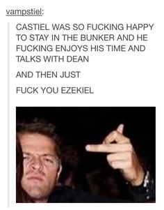 EXACTLY. ZEKE YOU RUINED IT. THIS SEASON COULD SO EASILY HAVE DISSOLVED INTO DESTIEL MAKEOUTS AND YOU RUINED IT.