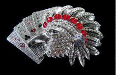 Indian Rhinestone Wild Birds Eagle Falcon Cards Belt Buckle Belts Buckles #eagle #eagles #eaglebuckle #eaglebeltbuckle #flyingeagle #baldeagle #americaneagle #beltbuckles #coolbuckles #buckle #rhinestones #pokerhand #eaglepokerhand #rhinestonebuckles #rhinestoneeagles