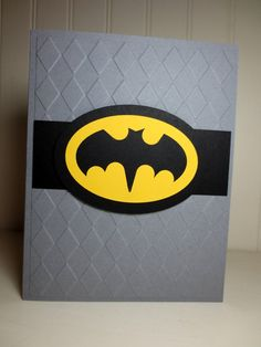 Handmade Batman Card, Nick would LOVE this for his Birthday