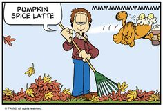 Garfield Quotes, Garfield And Odie, Garfield Comics, A Comics, Cartoon Icons, A Cartoon, Friday Feeling, Fat Cats, Make You Smile