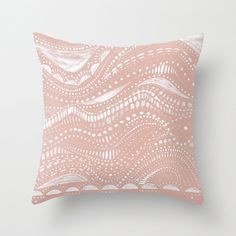 Pastel Pink and White Throw Pillow Cover, pink throw pillow, pink pillow cover, pink pillow, throw pillow cover, nursery throw pillow